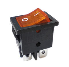 Copper Silver Plated Terminal Rocker Button Switch R19-8 Electrical 10000 Cycles